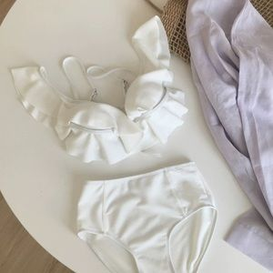 Two pieces swimming suit bikini high waist